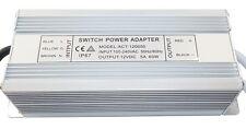 electrónico Transformador LED Adaptador de red 1-60W 160-250V 2 x 12V 5.0 A IP67
