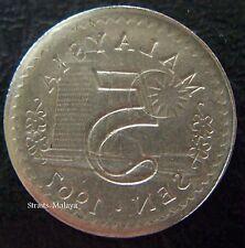 MALAYSIA 5 SEN 1967 ***ERROR & RARE***
