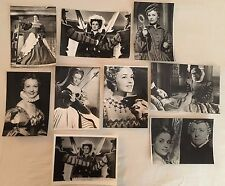 LA REINE MARGOT 1954 - J. MOREAU - F. ROSAY - LOT 9 PHOTOS CINÉMA PRESSE