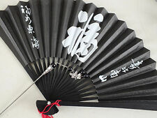 JAPANESE GEISHA HAIR PIN STICK BLACK LUCK PAPER HAND FAN CHINESE NEW YEAR PARTY
