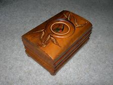 ORNAMENTAL TOBACCO CIGARETTE CIGAR BOX ~ Decorative with Pipe Tobacco Leaves on