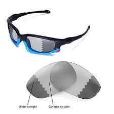 New Walleva Polarized Transition/Photochromic Lenses For Oakley Split Jacket