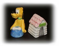 Vintage Collectible Disney Ceramic Pluto Salt and Pepper Shakers Set
