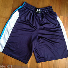Under Armour Athletic Shorts M Men's Navy Blue Light Blue White