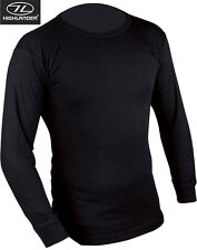 Mens Thermal Underwear Long Sleeve Top Shirt Vest Base Layer White Black Blue