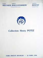 Catalogue de vente Collection Henri Potez - Mobilier & Objet d'art XVIIIe siecle
