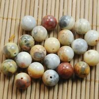 40pcs 4mm Natural Gemstone Natural Crazy Lace Agate  Round Spacer Beads