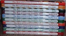 Taste of Home The Best of Country Cooking Cookbooks (10) 1999-2011 Hardcover