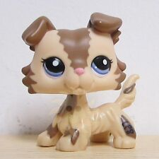 Hasbro Littlest Pet Shop LPS Figure Loose Toy #2210 Brown and Caramel Collie Dog