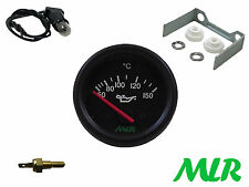 52MM Oil temperature gauge & Sender KIT ELECTRIC BLACK FACE olio temp mlr.auu