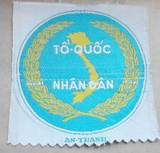 """TO QUOC NHAN DAN""  ARVN  woven silk cloth patch"