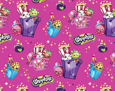 SHOPKINS BAGS OF FUN GROCERY CHARACTERS COTTON FABRIC  SPRINGS CREATIVE  YARDAGE