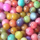 100 pieces 6mm Mixed Color Round Shell Beads - A2511
