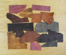 PULL-UP LEATHER COWHIDE, OFF-CUTS CRAFT PACK 900 GM, ASSORTED COLOURS, 2 MM