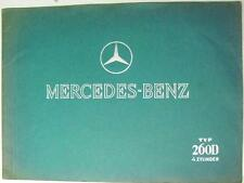 MERCEDES-BENZ TYP 260D 4 Cyl Original Car Sales Brochure 1937 #6798 II.636 K