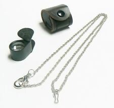 LOUPE JEWELERS LOUPES 10X TRIPLET 18MM BLACK LOUPE LEATHER CASE & FREE CHAIN