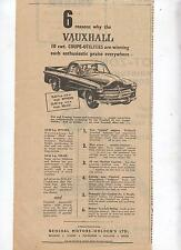 Vauxhall Coupe Utility Advertisement from a 1954 Australian Newspaper Ute