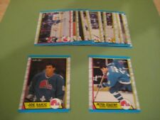 1989/90 O-Pee-Chee OPC Quebec Nordiques Team Set Joe Sakic