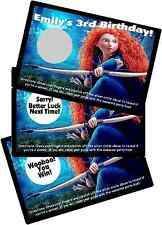 DISNEY BRAVE PERSONALIZED SCRATCH OFF OFFS PARTY GAMES CARDS BIRTHDAY FAVORS