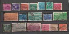 India 1955 Complete Used Set of 18 Stamps Set values to Rs 10  Cat £ 22