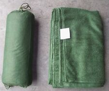NEW - Army Issue Green Micro-Fleece Field Bath Towel With Mesh Stuff Bag - LARGE