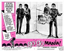 GO GO MANIA LOBBY SCENE CARD # 9 POSTER 1965 THE BEATLES JOHN PAUL GEORGE RINGO