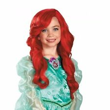 Ariel Red Wig Girls Childs Disney Princess Little Mermaid Fancy Red Hair - Fast