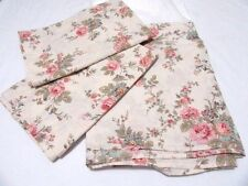 Laura Ashley Bovary Pink Blue Floral 3-PC Full Bed-Skirt and Std. Pillow Shams