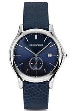 EMPORIO ARMANI SWISS Mens Blue Dial/Lizard Watch ARS1010 NEW! $695 SALE!
