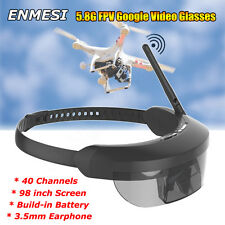 "ENMESI E632 5.8G 40CH FPV Goggles 3D Video Glasses 98"" for H501S H502S RC Drone"