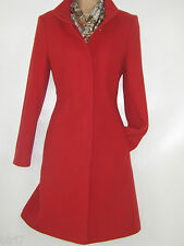 LAURA ASHLEY SCARLET RED WOOL CASHMERE CHELSEA URBAN WINTER COAT, 8  BNWT
