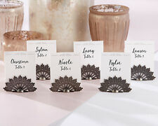 Antiqued Fan Place Card Holder Set of 6 Wedding Gift Reception Party Table Decor