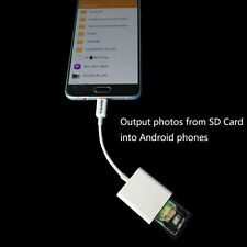 Micro to SD Card Camera Reader for Android mobile phones and tablets