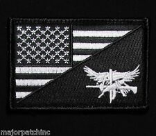 SWAT EAGLE USA AMERICAN FLAG US ARMY MORALE TACTICAL BLACK OPS VELCRO PATCH