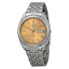 Seiko 5 SNXA11 SNXA11K Men's Stainless Steel Copper Tone Dial Automatic Watch