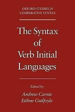 The Syntax of Verb Initial Languages (Oxford Studies in Comparative Syntax), , G