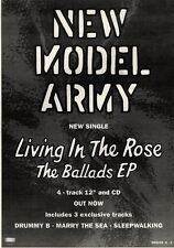 17/7/93PGN14 NEW MODEL ARMY : LIVING IN THE ROSE THE BALLADS E.P. ADVERT 7X5""