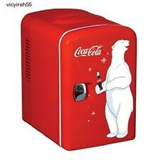 Coke Mini Fridge Coca-Cola Small Refrigerator Soda Home Office Vintage Retro Red