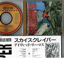 DAVID LEE ROTH Skyscraper JAPAN 24k GOLD CD w/PS+INSERT VAN HALEN, STEVE VAI