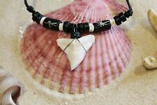 NEW LARGE SHARK TOOTH NECKLACE LUCKY SURFER TALISMAN BEACH TEETH SURF / n190C