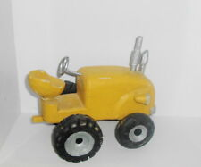 Palecek Norman Rockwell Home Decor 90's Wood / Wooden Yellow Farm Tractor 6.5""