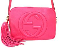 Authentic GUCCI Pink Soho Disco Bag 308364 Leather Shoulder Bag