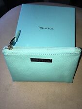 Tiffany & Co Blue leather cosmetic case / pouch -  NEW & Authentic with box !