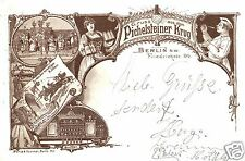 14895/ Litho AK, Gruss aus dem Pichelsteiner Krug,  Berlin, 1899
