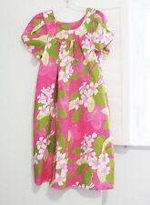 Blue Hawaii Womens Pink Floral Hawaiian Dress Muu Muu House Dress Sz L - NWOT