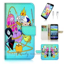 Samsung Galaxy S5 Flip Phone Case Cover PB10987 Adventure Time