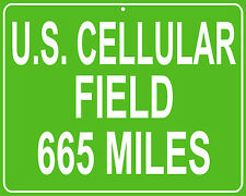 Chicago White Sox U.S. Cellular Field mileage sign - distance to your house