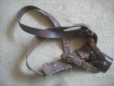 "A BRITISH ARMY WW1 WW2  SAM BROWN OFFICERS BELT AND CROSS STRAP  28""-30""  WAIST"