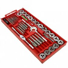 SAE Tap and Die | 40pc Set Tapping Threading Chasing Storage Case for DIY'ers