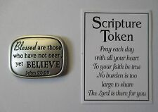 dd Faith Blessed are those who believe SCRIPTURE POCKET TOKEN Ganz